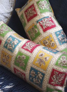Decorative Pillow Cover Vintage Tootals by AnchorAndApron on Etsy, £22.00