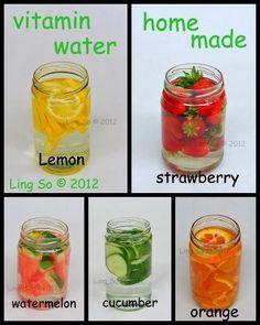 Homemade vitamin water.