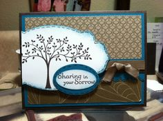pinterest stampin up sympathy cards   Stampin' Up! Sympathy card; island indigo, soft ...   Cards Sympathy