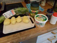 Jeg tester: Lag din egen fra Mills; Oppskrift på potetsalat (pialk) Plastic Cutting Board, Tips, Blogging, Counseling