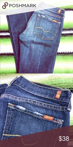 """7 for all Mankind boot cut jeans In excellent condition worn a handful of times. Size 27 with 30"""" inseam. 7 For All Mankind Jeans Boot Cut"""