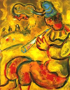 "Marc Chagall ""The Yellow Clown""  http://en.wikipedia.org/wiki/Marc_Chagall"