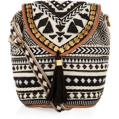 """Monsoon Tribe Braided Mini Pouch Bag"" found on Polyvore"