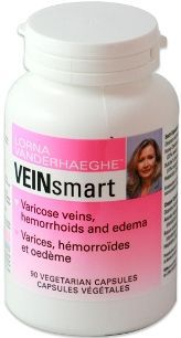 Veinsmart  -What to expect from this product:  -Supports vein health and reduces varicose veins  -Helps decrease the edema and inflammation associated with varicose veins  -Eliminates heavy feeling legs and swelling of legs  -Reduces Chronic Venous Insufficiency (CVI)  -Reduces phlebitis  -Eliminates hemorrhoids  -Helps relieve symptoms of lymphedema  -Helps heal leg ulcers