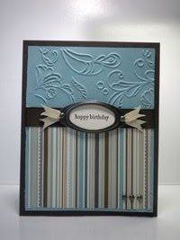 stampin up masculine card ideas | ... Papercrafting: Stampin' Up Elegant Lines Masculine Birthday Card