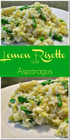 What's for dinner tonight?Lemon Risotto with Asparagus. Perfect spring dinner! #dinner #recipe #lemon #risotto