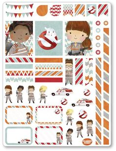 Ghost Fighters Decorating Kit PDF PRINTABLE Planner Stickers