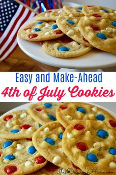 of July Cookies with M&M's of July Cookies with M&M's – patriotic cookies for the of July! Related posts:Fourth of July Desserts - Patriotic Recipes - Fourth of JulyPatriotic Popcorn - Fourth of july foodSimple of July Family Meal - Recipes Patriotic Desserts, 4th Of July Desserts, Fourth Of July Food, 4th Of July Celebration, 4th Of July Party, Holiday Desserts, Holiday Treats, Holiday Recipes, Fourth Of July Recipes