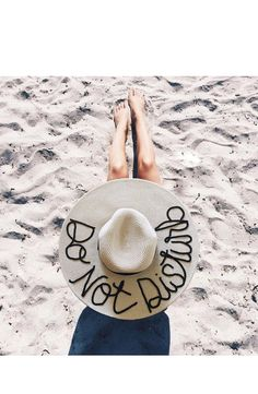 Tan & Black PERSONALIZED Summer Hat by FreeToWanderDesigns
