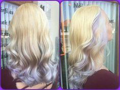 Lavender mermaid pastel ombre