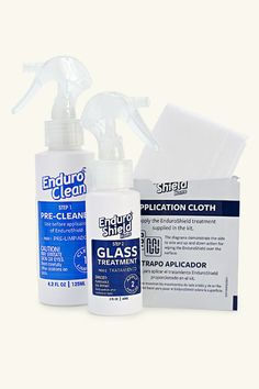 Easy clean glass treatment kit, by EnduroShieldThis spray-on treatment repels water, oil, dirt, minerals, and soap scum, rendering cleanup all but effortless. Our favorite feature? One application lasts three years. Great for shower doors—and windows and windshields too.From about $35 for a kit that treats 40 square feet; enduroshieldusa.com