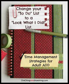 How a Dollar Store Notebook Helped my Adult ADD - Time Management Strategies that actually work for me!