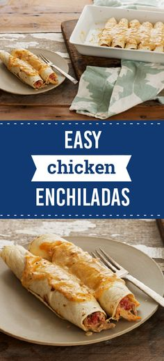 Easy Chicken Enchiladas – Enjoy this cheesy and flavorful recipe as a part of your dinner table menu. This dish gets its Southwest spice from a mixture of cream cheese and taco seasoning!