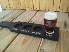 Chalkboard beer flight paddle
