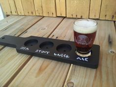 These chalkboard beer flight paddles are great for any restaurant, home brewer, brew pub or anyone who likes to celebrate with different beer