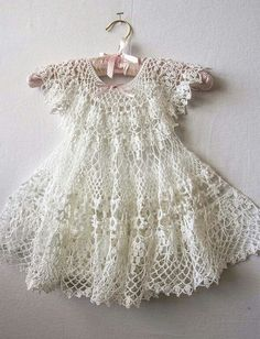 Gorgeous crochet baby dress!                                                                                                                                                                                 More