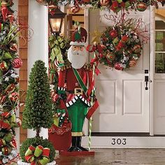 7 noel santa frontgate outdoor christmas porch decor outside christmas decorations christmas
