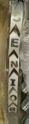 "Homecoming mum ""Senior"" banner"