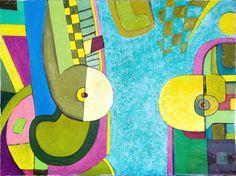 """Tomasz Perlicjan, """" Niebo i ziemia"""", olej na płótnie, 60x80cm,"""