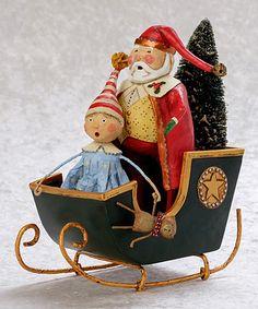 Loving this Lori Mitchell Santa's Sleigh Ride Figurine on #zulily! #zulilyfinds
