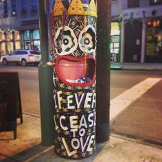 """If Ever I Cease To Love"" is a classic Mardi Gras song. It's also emblazoned on a garbage can in the Garden District because why not? New Orleans is weird/wonderful like that. Garden District, New..."