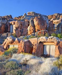 Sleep in a cave at Kagga Kamma reserve Cederberg Mountains, South Africa.