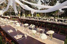 mesas comunitárias casamento