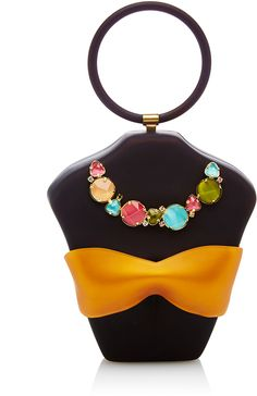 CHARLOTTE OLYMPIA PERSPEX BODY SHAPED CLUTCH WITH TOP HANDLE Vacation Style, Vacation Outfits, Vacation Fashion, Old Hollywood Glamour, Charlotte Olympia, Colorful Fashion, Body Shapes, Style Inspiration, Handle