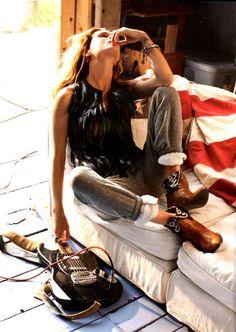 Erin Wasson---- DIY cut-off cowboy Boots