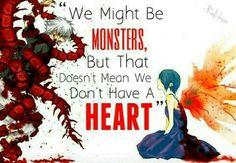 tokyo ghoul kaneki sad ---- We all have hearts. Sad Anime Quotes, Manga Quotes, Cartoon Quotes, All Anime, Manga Anime, Tokyo Ghoul Quotes, Pinterest Instagram, Facebook Instagram, Dark Quotes