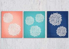 Coral Bedroom Wall Art PRINTABLE, Coral Navy, Flower Burst, Coral Navy Turquoise, Dahlia Wall Art,Bedroom Decor, 8x10, Modern Floral Turquoise Wall Art, Bedroom Turquoise, Turquoise Kitchen, Home Bedroom, Bedroom Decor, Bedroom Wall, Bedroom Ideas, Master Bedroom, Bedrooms