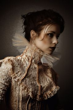 lace and tulle neck wear