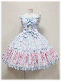 Angelic Pretty / Jumper Skirt / Tiara Rose Tiered JSK