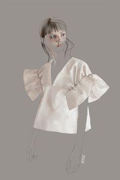 Pre SS 2016 Victoria Beckham_fashion illustration