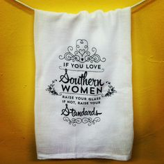 Make Your Kitchen Smile --   We love Southern women so we'll proudly raise our glasses!  Designed and printed at Kitchens on the Square in Savannah, GA
