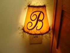 Tuscan Sun Monogrammed Night Light by lightningbugs on Etsy, $18.00