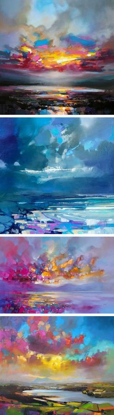 Vibrant Oil Paintings of Scottish Landscapes by Scott Naismith #OilPaintingInspiration #OilPaintingButterfly