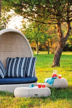 Igloo garden sofa PASHA by Atmosphera #outdoor #design #furniture