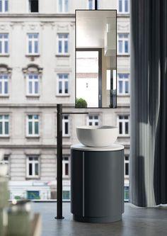Freestanding round washbasin TIBERINO - Ceramica Cielo