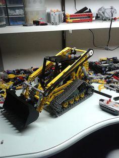Lego tracked skidsteer loader