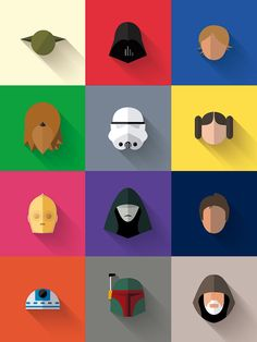 Star Wars cartoon heads
