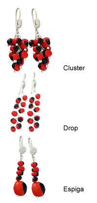 Huayruro Seed Earrings - make with polymer clay