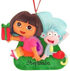 Dora the Explorer Christmas Ornament Set5 pc Christmas