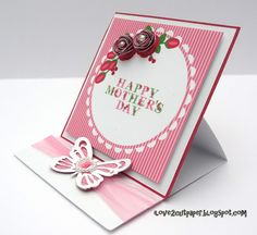 Easel card from ilove2cutpaper for Mother's Day. So pretty!