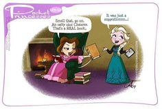 Pocket Princesses 189: Book Smell. (Please do not repost! Share or reblog from amymebberson.tumblr.com or facebook.com/pocketprincesses)