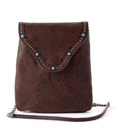 Brown Embellished Shoulder Bag #zulily #zulilyfinds