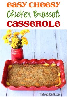 Easy Cheesy Chicken Broccoli Casserole Recipe! ~ from TheFrugalGirls.com ~ sneak some veggies into your comfort food for a delicious, easy dinner! #casseroles #recipes #thefrugalgirls