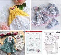 Sewing Doll Clothes, Sewing Dolls, Doll Clothes Patterns, Barbie Clothes, Doll Patterns, Clothing Patterns, Barbie Sewing Patterns, Baby Dress Patterns, Doll Crafts