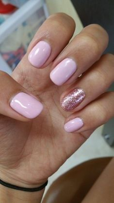 Happy Spring Light Pink Gel Nail Color With Super Shinny Powder Nails Nails Pink Gel