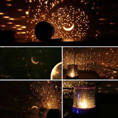 Music Light Stars Sky Rotating Projection Lamp Projector Disco Night